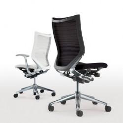 Okamura Baron CP bureaustoelen zwart en wit