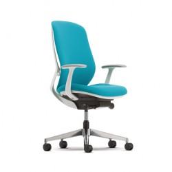 Okamura sylphy bureaustoel blauw wit