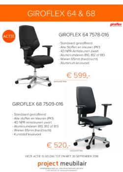 actie giroflex 64 en giroflex 68