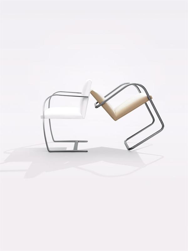 Brno Chair Flat bar en Tubular Knoll Studio   Project Meubilair