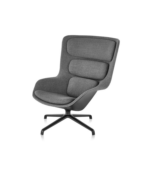 herman miller striad fauteuil en voetenbank project. Black Bedroom Furniture Sets. Home Design Ideas
