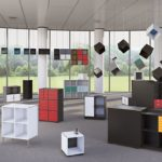 V Bookcase Cube Design