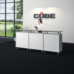 Informatie desk cube design