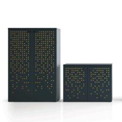 MPG Emme kasten en ladenblokken akoestisch project meubilair