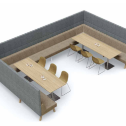 Hybrid kantoor zoals een woonkamer Project Meubilair