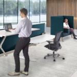 Markant Hybrid zit-sta werkplekken Project Meubilair