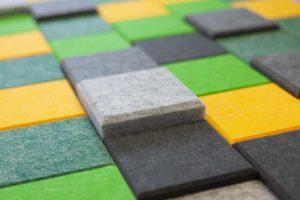 Ako Panel wandpatroon Square akoestische muurdecoratie Project Meubilair