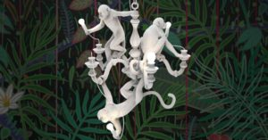 Seletti Monkey chandelier kroonluchter Project Meubilair