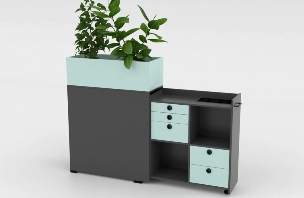 Cube Design flower box projectmeubilair