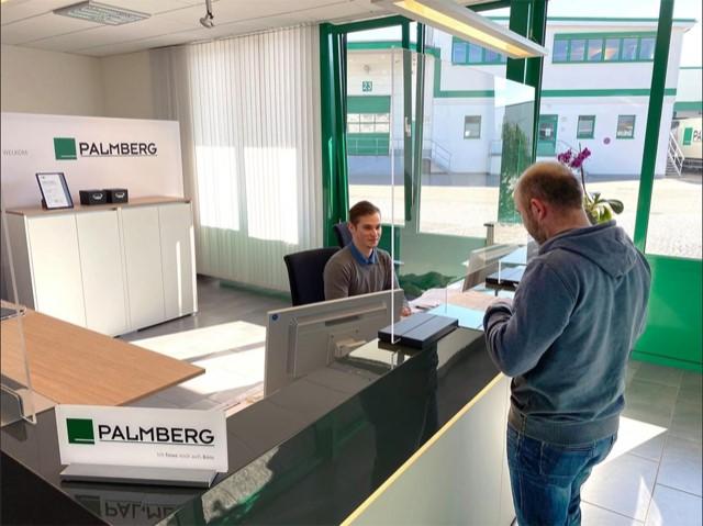 Palmberg Hygienescherm Scherm Corona Coronascherm Veiligheid Projectmeubilair
