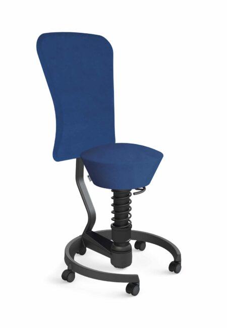 Aeris Swopper Backrest Castors Hard Floor Standard Black Black Microfibre Blue 04
