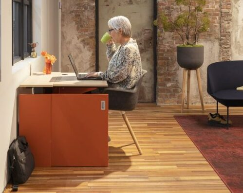 Drentea HomeFit Oranje Projectmeubilair Thuiswerken Werkplek thuiswerkoplossingen