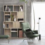 Muuto Doze Lounge Chair Loungestoel Groen Green Zitten Kantoormeubilair Projectmeubilair