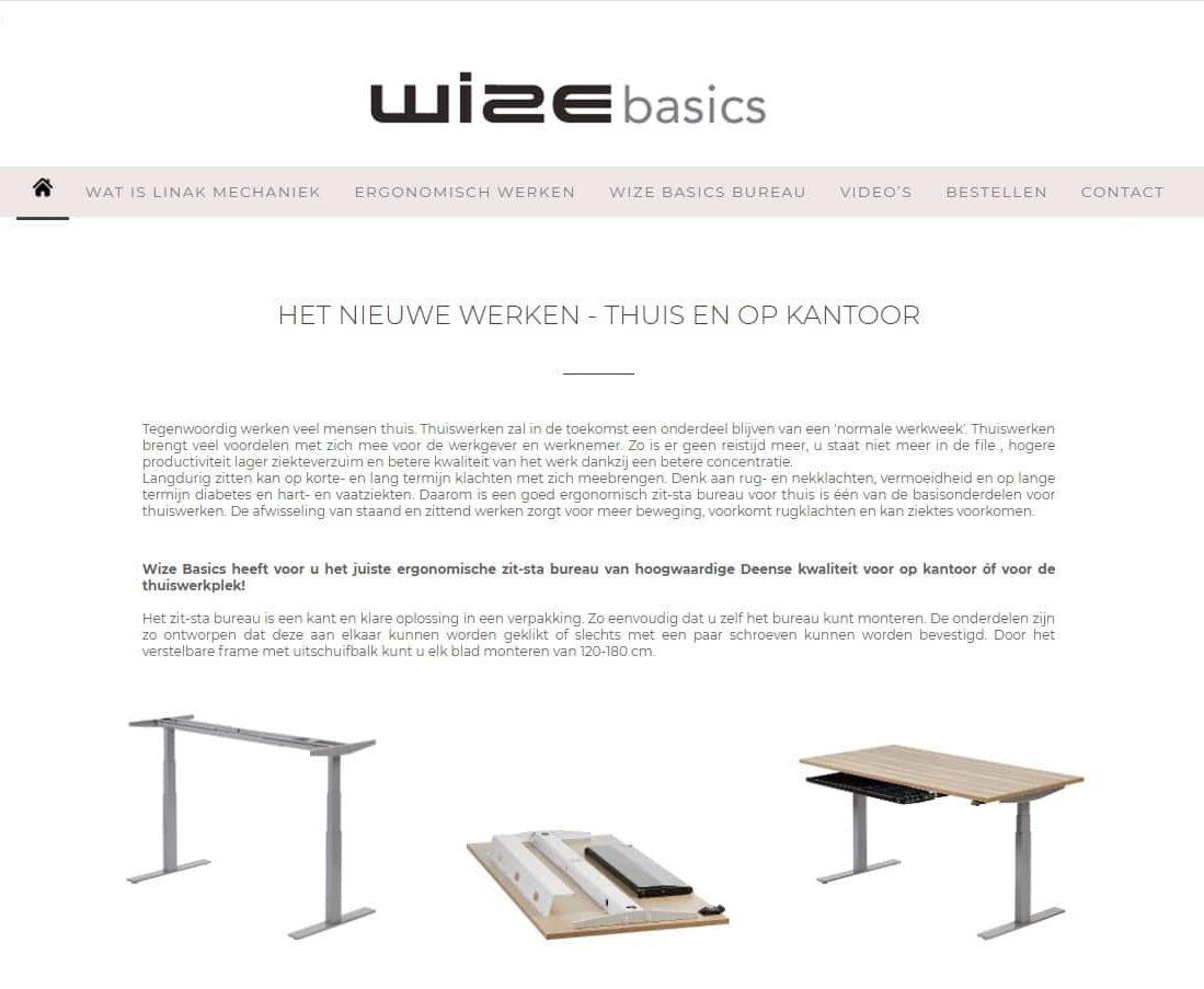 Wize Basics Website Thuiswerken Linak
