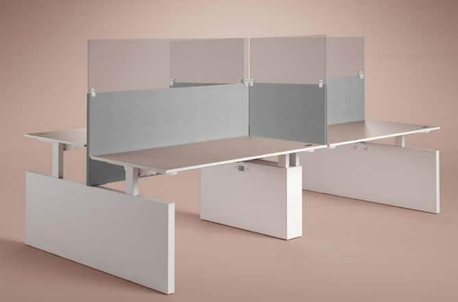Projectmeubilair Drentea Werkplek Hygienescherm Hygienepaneel kantoormeubilair