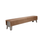 Spoinq Bench Cake Brown Leather Leer Projectmeubilair