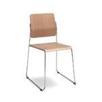Mitab Montoya Chair Stoel Hout Slede Projectmeubilair